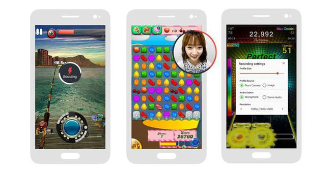 Oyun kaydeden Samsung Game Recorder+