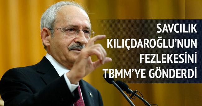 Savcılık Kılıçdaroğlu'nun fezlekesini gönderdi