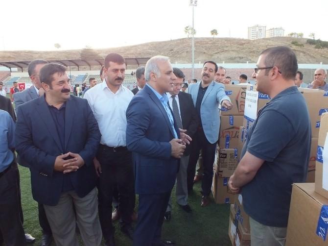 Elazığ'da Amatör Spor Kulüplerine Malzeme Yardımı Yapıldı