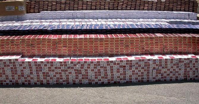18 Bin 900 Paket Kaçak Sigara Yakalandı
