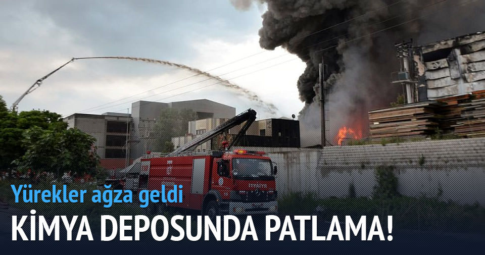 Kocaeli'de kimya deposunda patlama