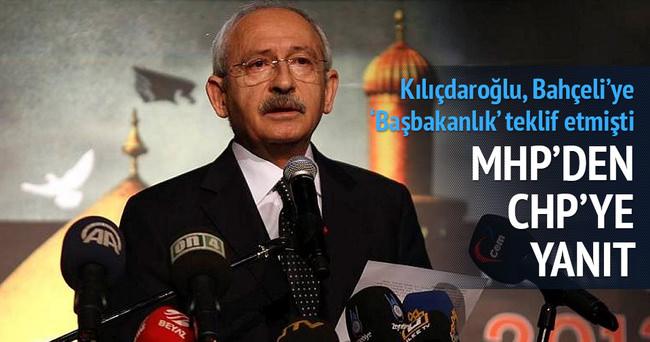 MHP'den CHP'ye 'Başbakanlık' yanıtı