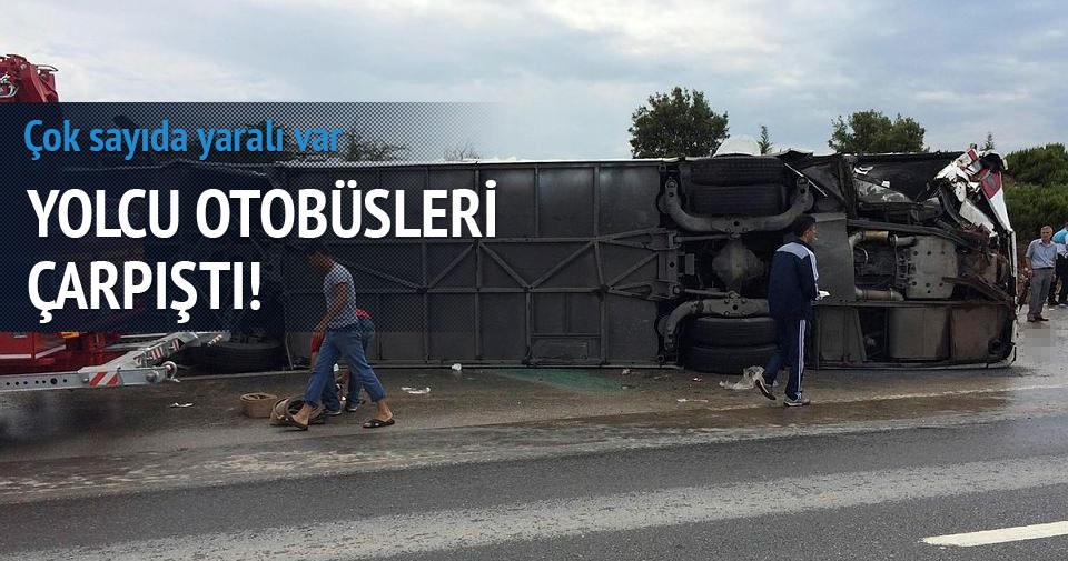 Yolcu otobüsleri çarpıştı: 46 yaralı