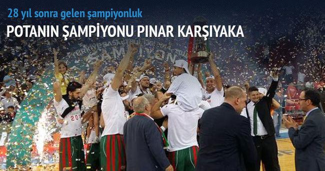 Şampiyon Pınar Karşıyaka!