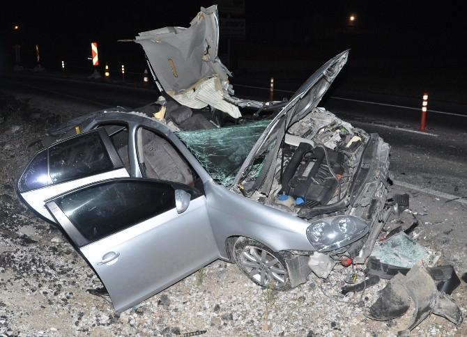 Otomobil Tıra Arkadan Çarptı: 1 Ölü 3 Yaralı