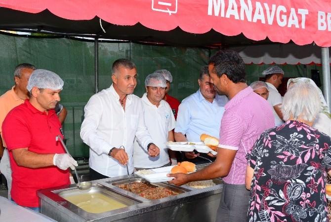 Manavgat'ta İftar Çadırına Vatandaşlar Yoğun İlgi Gösterdi