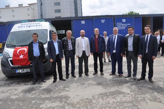 Bozüyük Belediyesine Cenaze Nakil Aracı Bağışlandı