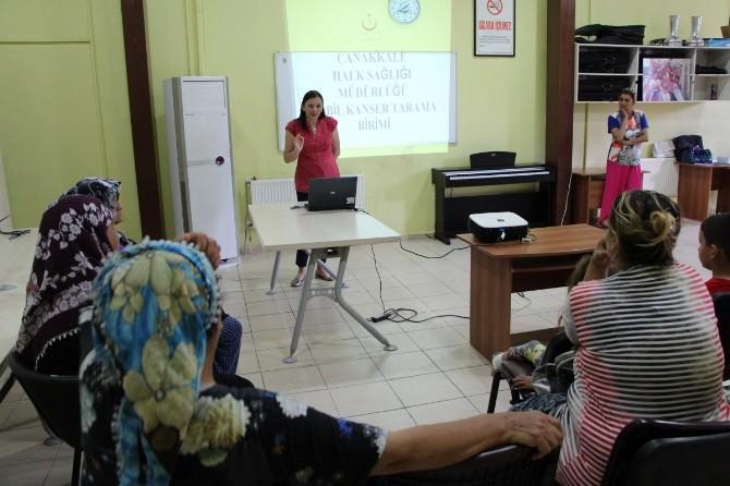 Çanakkale'de Kanser Bilgilendirme Toplantısı Yapıldı