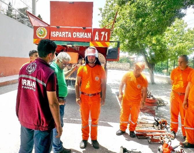 Dinar Orman İşletme Müdürlüğü'nde Yangın Eğitimi Ve Tabitkatı Yapıldı