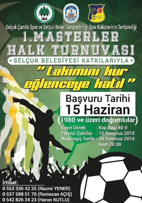 Selçuk'ta 1. Masterlar Futbol Turnuvası Başlıyor