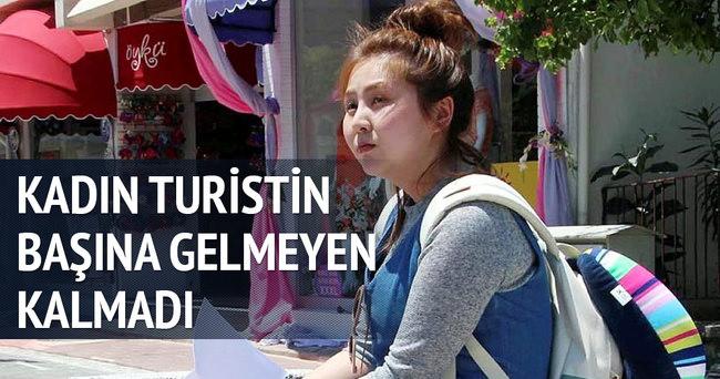 Güney Koreli kadın turistin başına gelmeyen kalmadı