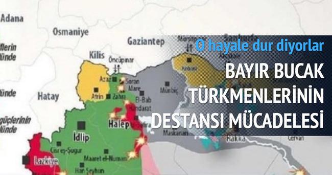 Büyük Kürdistan hayaline dur diyen Türkmenler