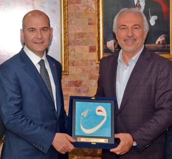 Süleyman Soylu, Başkan Kamil Saraçoğlu'nu Ziyaret Etti