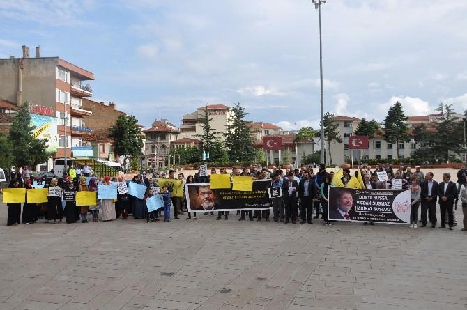 Bozüyük'te Mursi'nin İdam Kararı Protesto Edildi