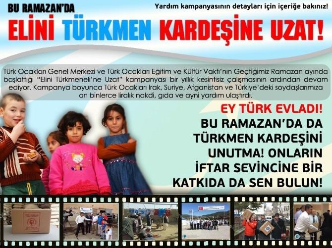 Türk Ocakları'ndan Türkmenler İçin Yardım Çağrısı