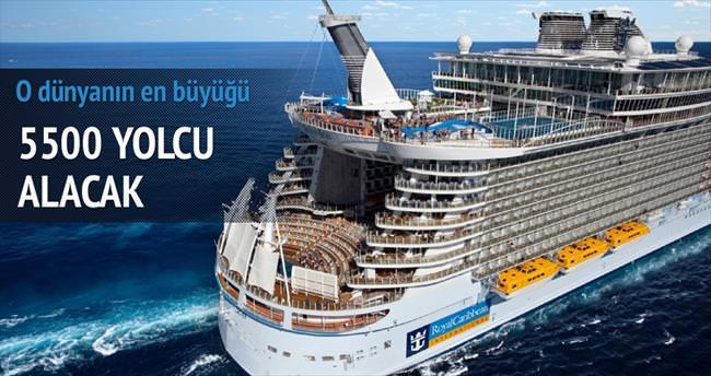 En büyük cruise 5500 yolcu alacak