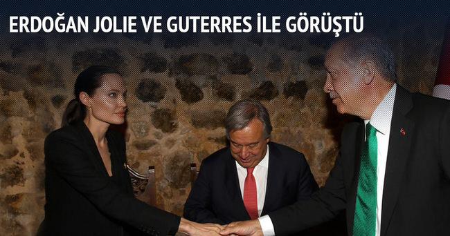 Erdoğan Jolie ile görüştü