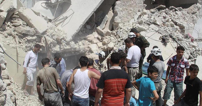 Suriye ordusu varil bombalarıyla saldırdı: 14 ölü