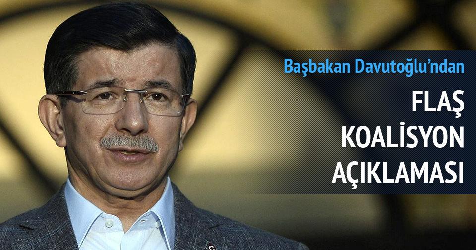 Başbakan Davutoğlu: Koalisyon için kapımız herkese açık