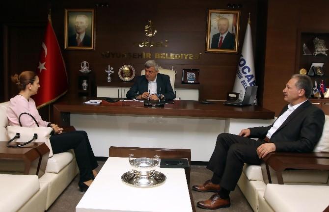 Başkan Karaomsanoğlu, Ardahan Hanak Belediye Başkanını Ağırladı