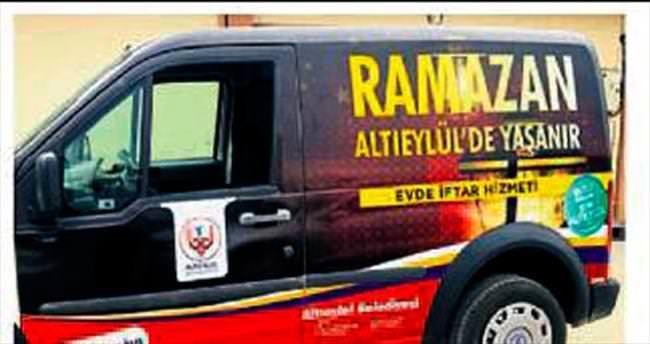 Altıeylül Belediyesi evde iftar veriyor