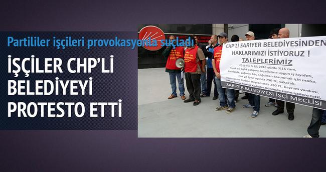 İşçilerden CHP protestosu