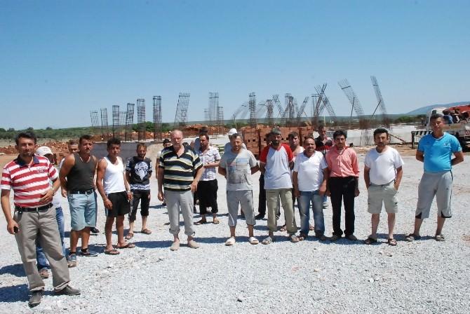 Ankara Üniversitesi İnşaatında İşçiler Eylemde