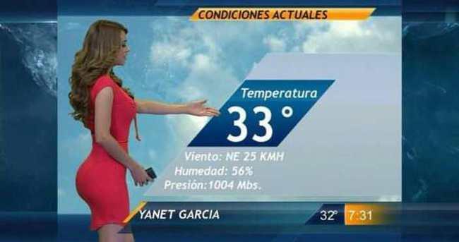 Yanet Garcia hava durumunu sundu, reytingler tavan yaptı