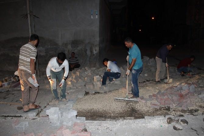 Eyyübiye Belediyesi Çalışmalarına İftardan Sonra Da Devam Ediyor