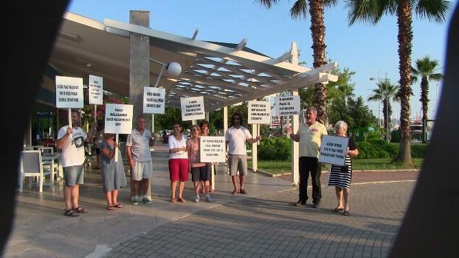 Göcek Plajı İçin Göcekliler Protesto Yürüyüşü Yaptı