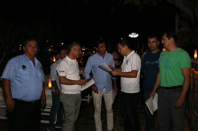 Bodrum'da Ekipler İş Yerlerini Denetledi