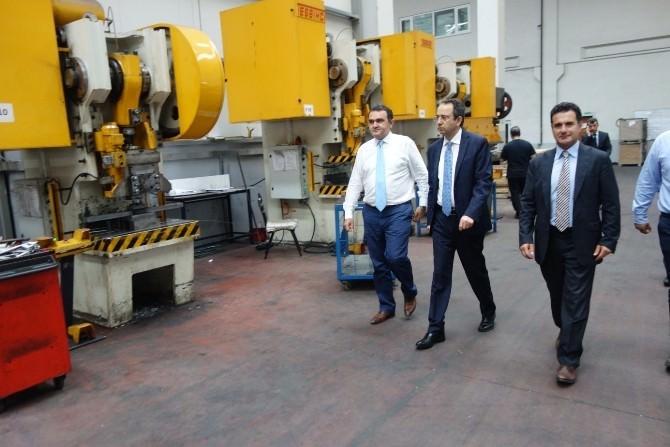 Çerkezköy Kaymakamı Kubilay'dan Fabrika Ziyareti