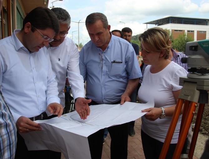 Kozcağız'da Ana Cadde Projesinin Temeli, Tunç'un Katılımıyla Atıldı