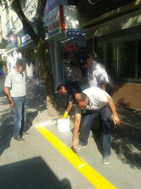 Salihli'de Esnafa 'Sarı Çizgi' Uyarısı