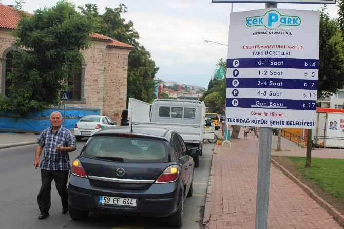 Tekirdağ'da Ana Caddelere Park Ücretli Oldu