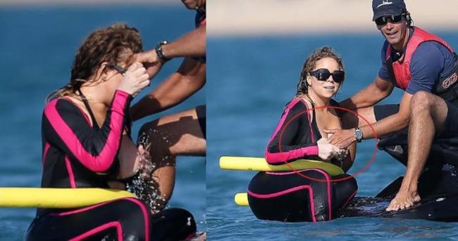 Mariah Carey frikik vermekten son anda kurtuldu