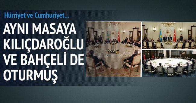 Aynı masada Kılıçdaroğlu ve Bahçeli de oturmuş