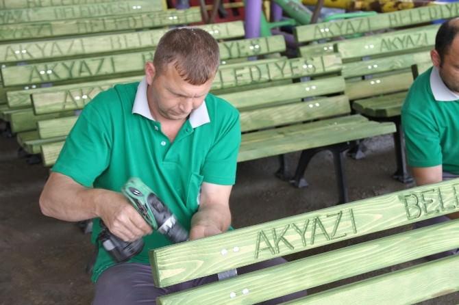 Akyazı Belediyesi Garaj Ve Bakım Atölyesinde Geniş Hizmet Alanı