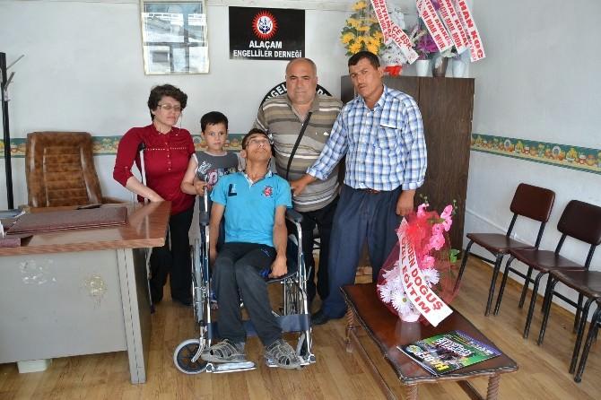 Alaçam Engelliler Derneği'nden Tekerlekli Sandalye