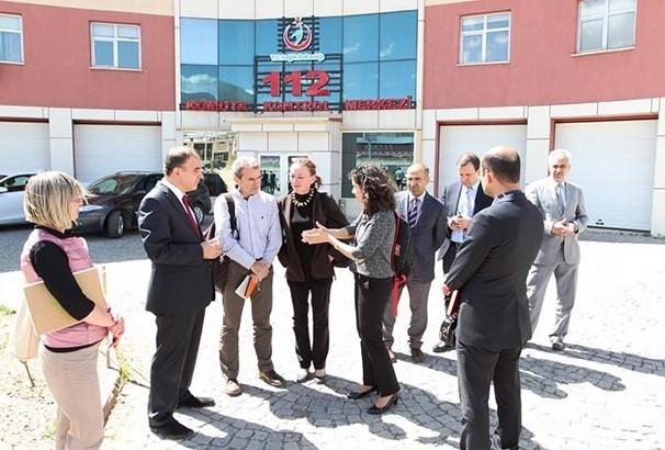 Avrupa Sağlık Komisyonu Heyeti 112 Çağrı Merkezi'ni Gezdi