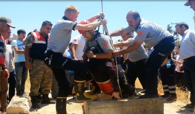 Gaziantep'te 40 Metrelik Kuyuya Düşen Kadın Kurtarıldı