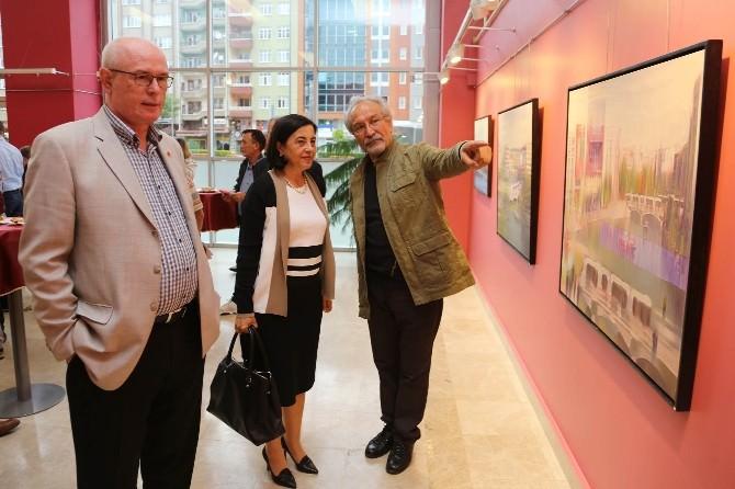 Şener Demirkol 40'ıncı Yıl Resim Sergisi Açıldı