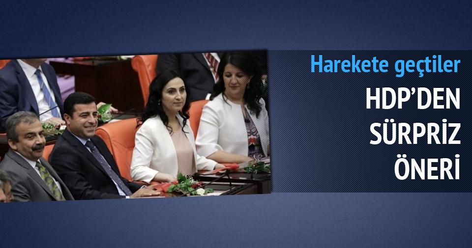HDP'den sürpriz öneri!