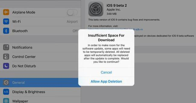 İOS 9 güncellemesi uygulamalarınızı silecek
