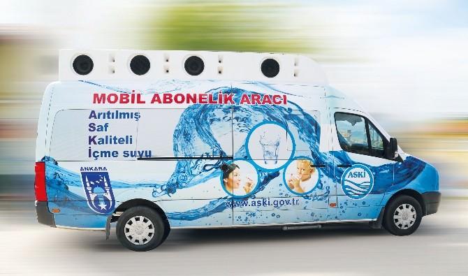 ASKİ'nin Mobil Abonelik Aracı İlçeleri Dolaşıyor