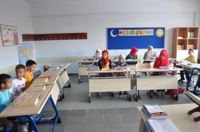 Başkan Bakıcı, İmam Hatip Ortaokulu'nda Kur'an Eğitimi Alan Öğrencileri Ziyaret Etti