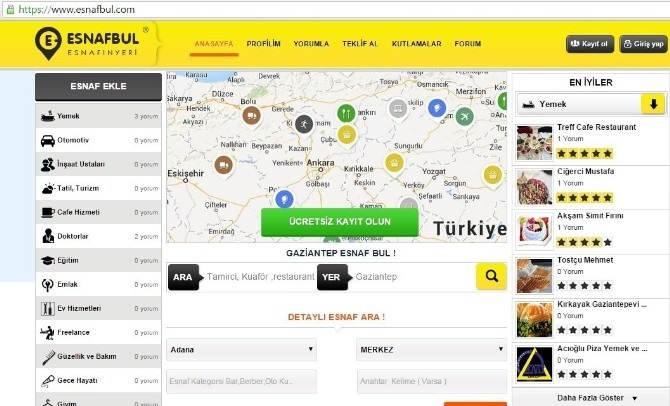 Çılgın İnternet Projesi Esnafbul.com Yayına Girdi