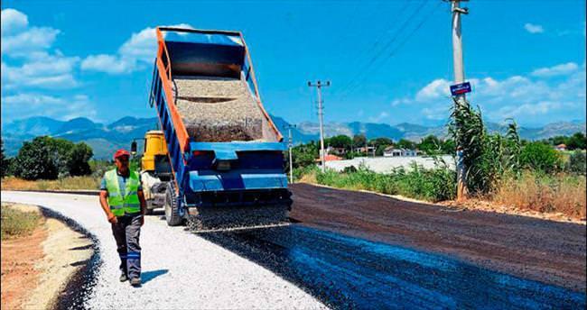Kırsalda asfalt seferberliği sürüyor