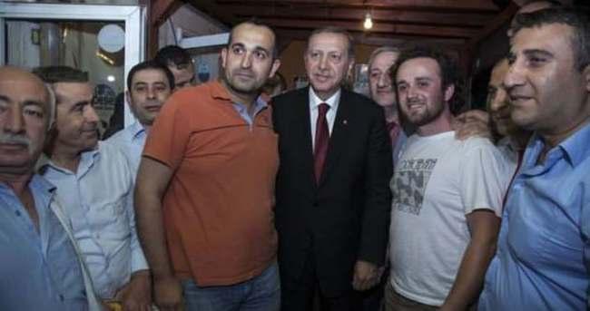 Erdoğan taksicileri ziyaret etti