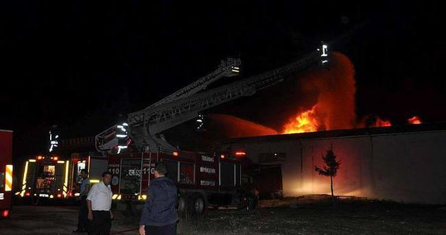 Çerkezköy'de fabrika yangını